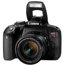"Camera DSLR Canon Eos Rebel T7I 24.2MP 3.0"" Wi-Fi/Bluetooh/NFC + Lente Is STM - Preta"
