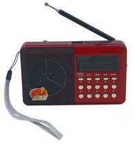 Radio Onida ON-101 - USB - LED - Vermelho