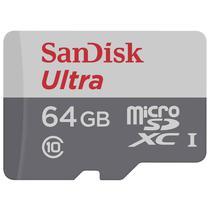 Cartao de Memoria Sandisk Micro SDHC 64GB/80MBS Classe 10