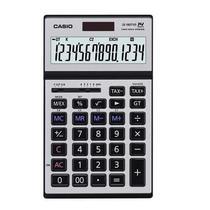 Calculadora Compacta Casio JS-140TVS 14 Dig Retratil Heavy Duty Silver