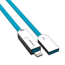 Cabo USB Micro/Lightning Pineng PN-307 com 1 Metro - Azul