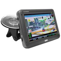 "GPS BAK BK-GPS4330 de 4.3"" com Mapa/Sistema Anti Radar/Os Windows Ce - Cinza"