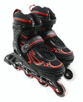 Patins Perfect Sports Roller SS-88A - Tamanho Ajustavel - 35 A 38 - Vermelho
