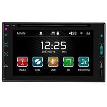 """Reprodutor de DVD Automotivo Quanta QTRMT63 de 6.2"""" com Bluetooth/USB - Preto"""