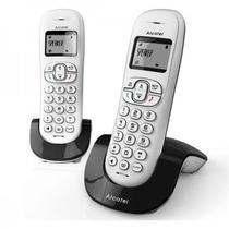 Telefone Alcatel C250 2 Bases com Bina Branco/Cinza