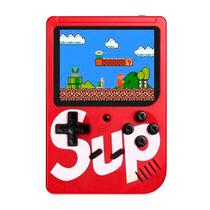 Console Mini Game Retro Portatil Sup Boy Game Box 400 In 1 Vermelho