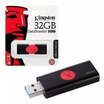 Pendrive de 32GB Kingston Datatraveler 106 DT106 - Preto