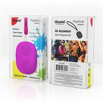 Caixa de Som Isound Popdrop Bluetooth - Rosa