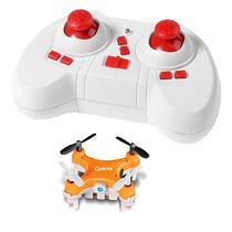Mini Drone Quanta QTMDC2045 2.4GHZ com Camera - Laranja/Branco