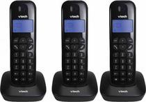 Telefone Sem Fio Vtech VT-680 - 3 Bases - Bina - Bivolt - Preto