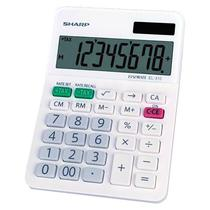 Calculadora Sharp EL-310WB com 8 Digitos - Branco