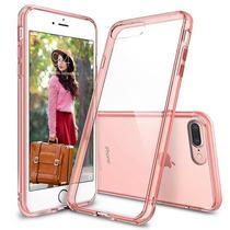 Case para Celular Ringke Fusion iPhone 7 Plus - Rosa/Dourado