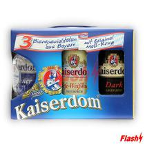 Cerveja Kaiserdom Kit 3 Latas com Caneca
