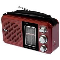 Radio AM/FM BAK BK-811BT com Bluetooth/USB/8 Bandas Selecionaveis 110V - Vermelho