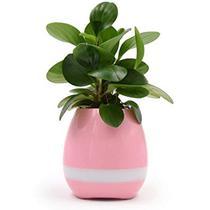 Caixa de Som de Som LED Bluetooth Music Flower Pot - Rosa