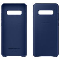 Capa de Couro Samsung Galaxy S10 Azul EF-VG973LNEGWW