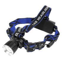 Lanterna de Cabeca X-Tech XT-LL3150 Recarregavel - Preto/Azul