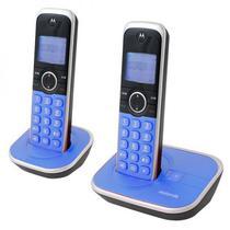 Telefone Motorola GATE-4800A-2 - Bina - 2 Bases - Bivolt - Azul