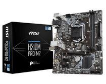 Placa Mãe MSI LGA1151 H310M PRO-M2 M.2/VGA/DVI/HDMI