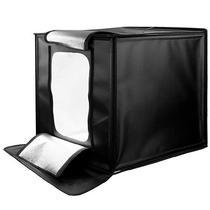 Mini Estudio Fotografico Quanta QTMEF40 com LED/50W/Bivolt - Preto