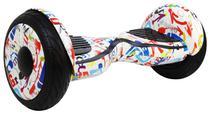 """Scooter Eletrico Freego W3S Balance Wheel Roda de 10"""" com Bolsa - Branco Colorido"""