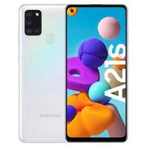 Smartphone Samsung Galaxy A21S SM-A217M 64GB Dual Sim Tela 6.5 48+8+2+2MP/13MP Os 10 - Branco