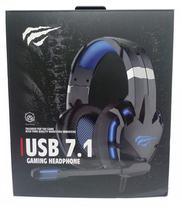 Fone c/ Microfone Havit Gamenote HV-H2001U USB 7.1 Gaming Preto/Azul