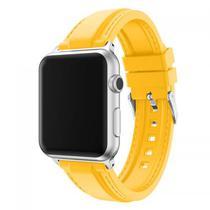 Pulseira 4LIFE de Silicone Costurada para Apple Watch - 38MM - Amarelo