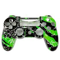 Carcaca de Controle Dualshock 4 para PS4 V1 Personalizado Verde e Preto