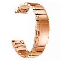 Pulseira 4LIFE de Aco Inoxidavel para Garmin Fenix 5S - Rosa Ouro