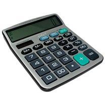 Calculadora DTC DT-986 com 12 Digitos - Prata/Preta