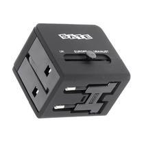 Adaptador de Tomada Satellite A-R06 Multiregiao 2X USB 5V - Preto