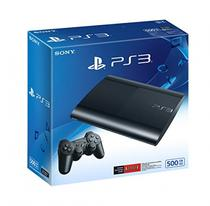 Console Playstation 3 Super Slim 500GB Preto Reco c/ 70 Jogos