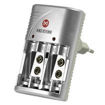 Carregador de Pilhas Mox MO-CB738 Bivolt - Cinza