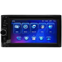 Toca DVD Automotivo S650 Universal com Bluetooth/GPS/A6  Preto