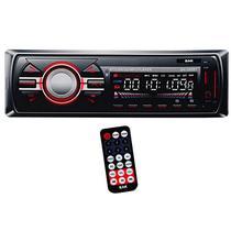 Toca Radio Automotivo BAK BK-295BT com Bluetooth USB/SD/FM - Vermelho