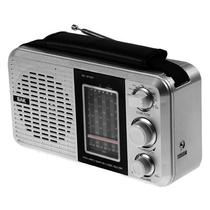 Radio AM/FM BAK BK-811BT com Bluetooth/USB/8 Bandas Selecionaveis 110V - Prata
