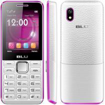 "Celular Blu Tank II T193 2.4"" Dual Sim Bluetooth FM Anatel Branco/Rosa"