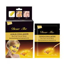 Mascara Removedora de Cravos Dear She Gold Collagen 10 Saches X 20GR