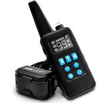 Coleira Eletronica M929 para Adestramento de Cachorro com Controle - Preto