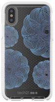 Case para iPhone X TECH21 Evo Check Evoke Edition Transparente/Azul