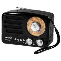 Radio Portatil AM/ FM/ SW Satellite AR-311BT 3W com Bluetooth/ USB/ Auxiliar - Preto