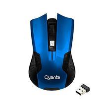 Mouse Optico Quanta QTMSW1001 Wireless 2.4GHZ 1200DPI - Azul/Preto.