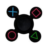 Spinner de Silicone Anti-Stress PS4 de Mao - Preto Colorido