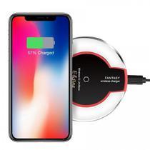 Carregador Wireless Universal com Padrao de Carga Fantasy Qi para iPhone e Android
