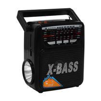 Radio Portatil FM/ AM/ SW Megastar RX-802BT com Bluetooth/ USB/ Lanterna - Preto