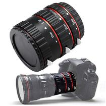 Tubo de Extencao Hoot XT-364 Macro de Foco Automatico para Lente Canon Ef / Ef-s - Preto