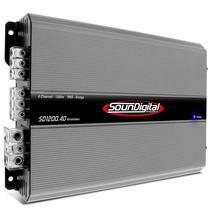 Amplificador Soundigital SD-1200.4D 4CH 1200W