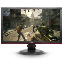 "Monitor LED AOC 24"" Gamer G2460PQU Full HD/HDMI 75HZ Preto com Vermelho"