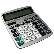 Calculadora DTC DT-1086 com 12 Digitos - Prata/Preta